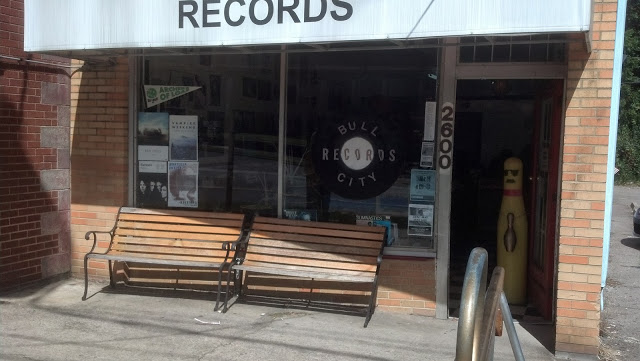 Bull City Records Durham North Carolina store front