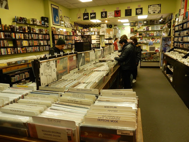 Reckless Records Loop Chicago Illinois store interior