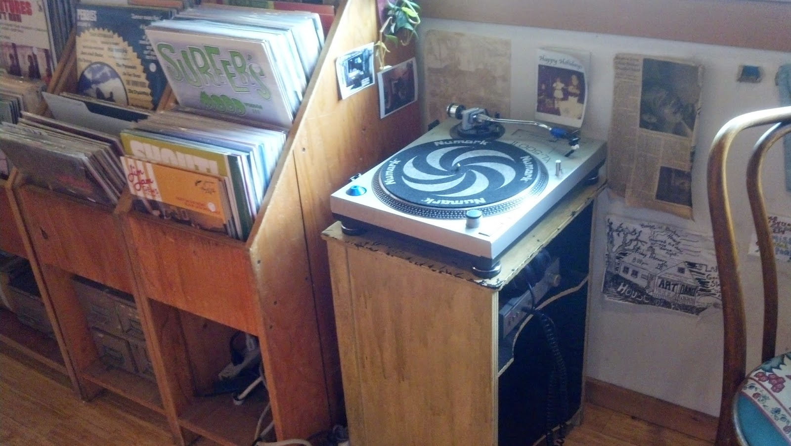 Mississippi Records - Portland Oregon - listening station