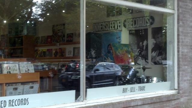 Innersleeve Records Amagansett New York store window