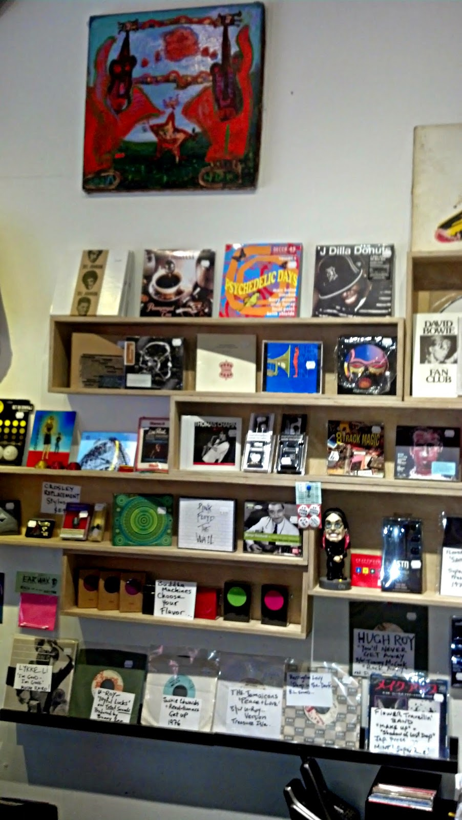 Earwax Records - Williamsburg Brooklyn NY - store interior