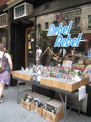 Rebel Rebel Record Store Greenwich Village New York City