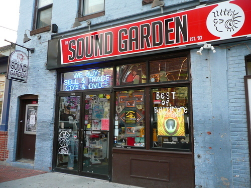 Sound Garden - Baltimore Md - Store Front
