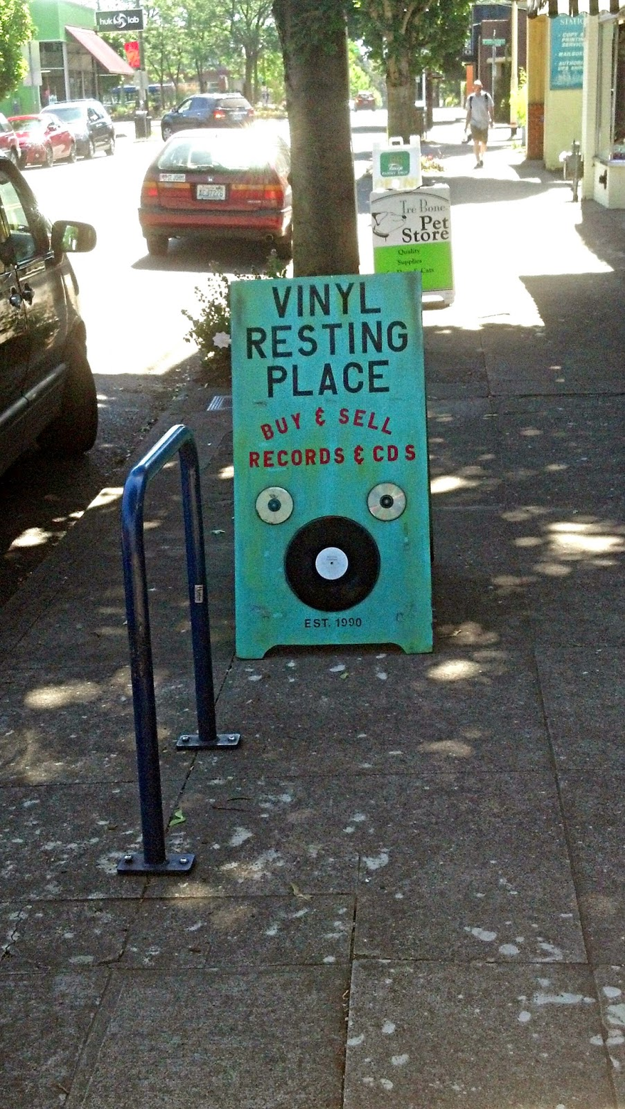 Vinyl Resting Place Record Store Portland Oregon Outdoor Sign